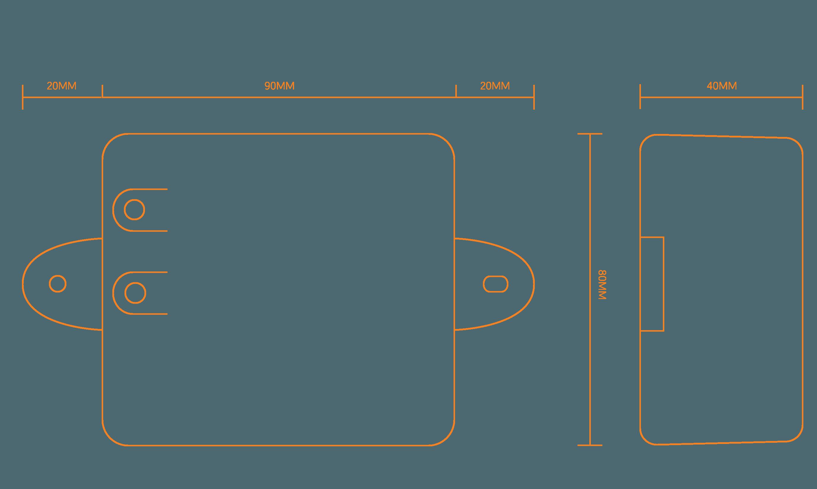 Abmessungen MarderSICHER Active Skizze